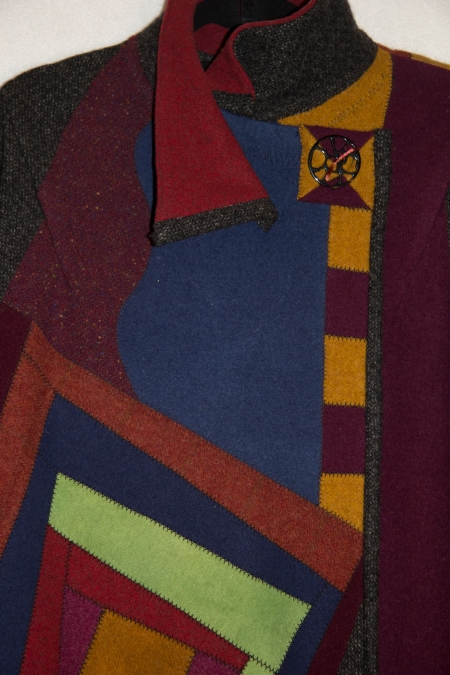 Log Cabin Heart Felt Coat D1